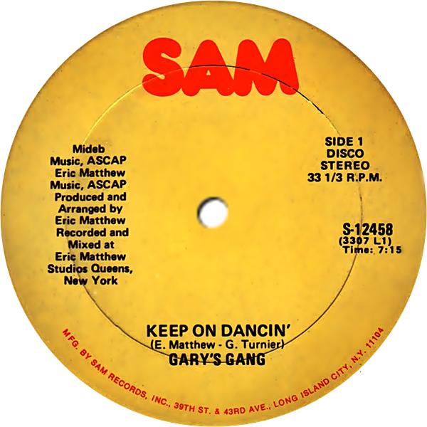 Garys Gang Keep On Dancin Sigue Bailando Do It At The Disco Hazlo En La Disco
